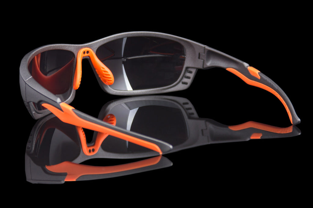 "Mens Premium Sport Sunglasses ""Firehawk"" ANSI Z87+ - Johnny Shades"