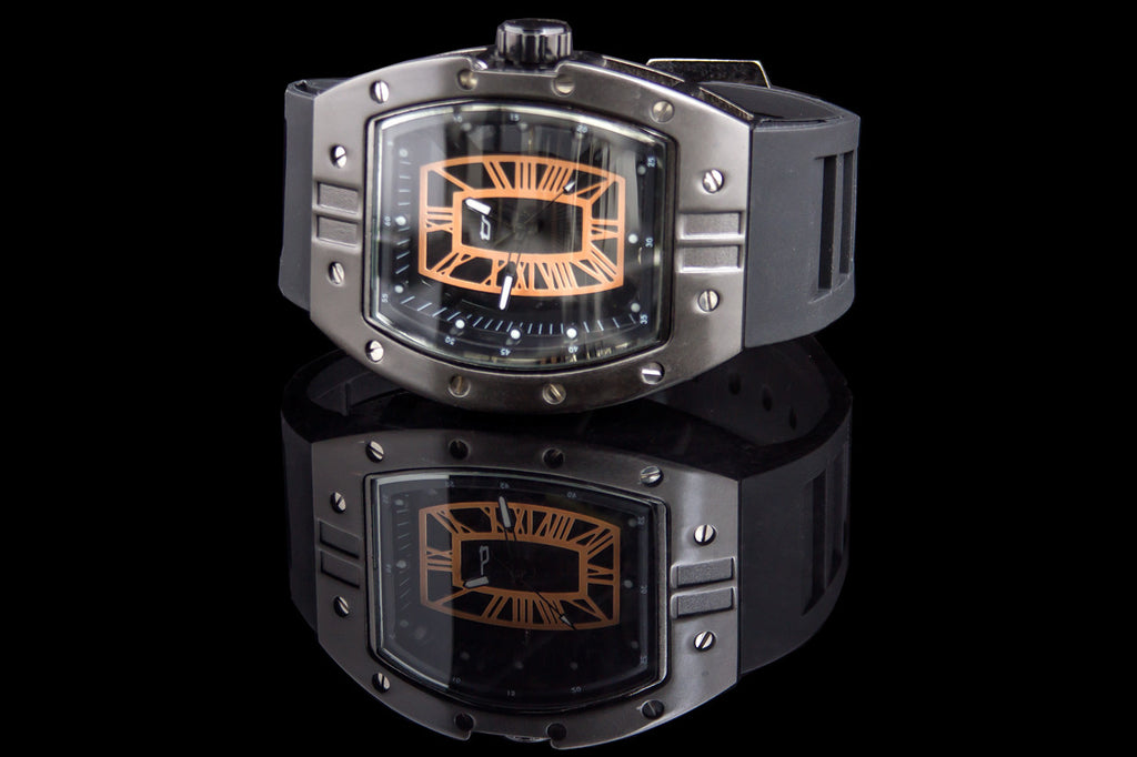 "Transparent Face Industrial Watch ""Code"""