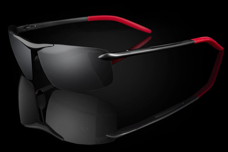 "TAC Polarized Techtanium Rimless Lens Sunglasses ""Forza"""