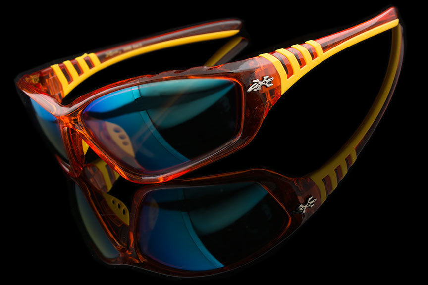 "Mens Sports Mirrored Sunglasses ""Steez"""