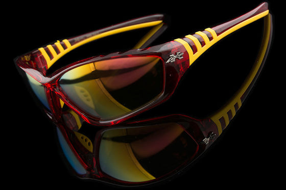 "Mens Sports Mirrored Sunglasses ""Steez"" - Johnny Shades"