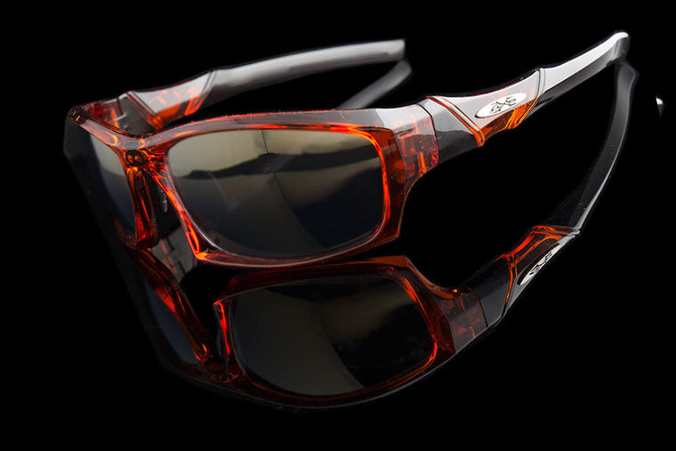 "Mens Rectangle Wraparound Sports Mirrored Sunglasses ""Elixor"" - Johnny Shades"