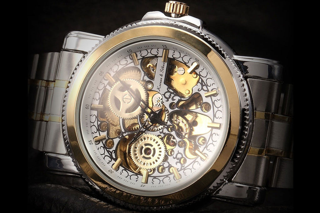 "Mens Self Winding Tourbillon Skeleton Watch ""LAX"" - Johnny Shades"