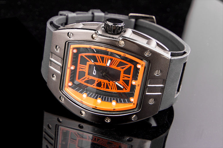 33095a21bfb5 Transparent Face Industrial Watch