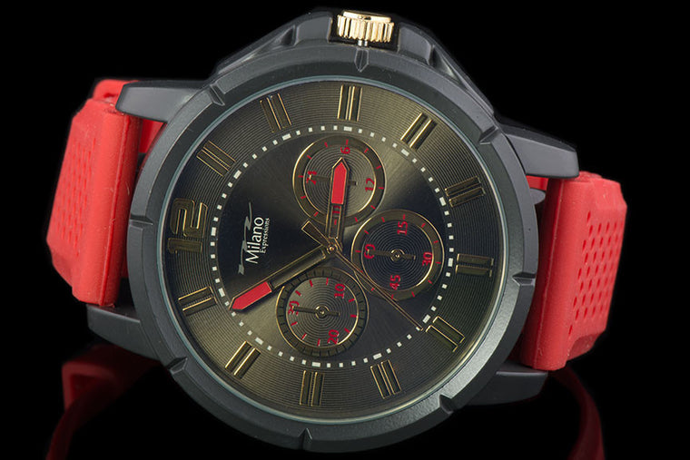 "Mens Silicone Band Fashion Watch ""Rafiki"" - Johnny Shades"