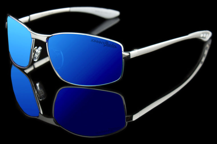 "Johnny Shades Aluminum TAC Polarized Executive Sunglasses ""Royal"""