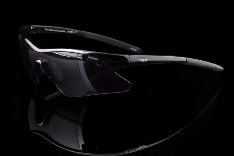 "Wraparound Sport 100%UV Cycling Biking Sunglasses ""Olympian"" - Johnny Shades"