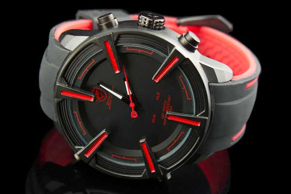"Mag Wheel Exotic Car Racing Watch Hidden LED + Alarm ""Modena"" - Johnny Shades"