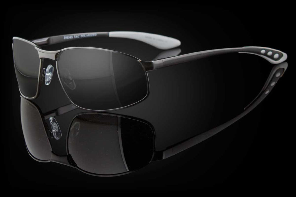 "TAC Polarized Metal Mens Luxury Oval Sunglasses ""Casino"""