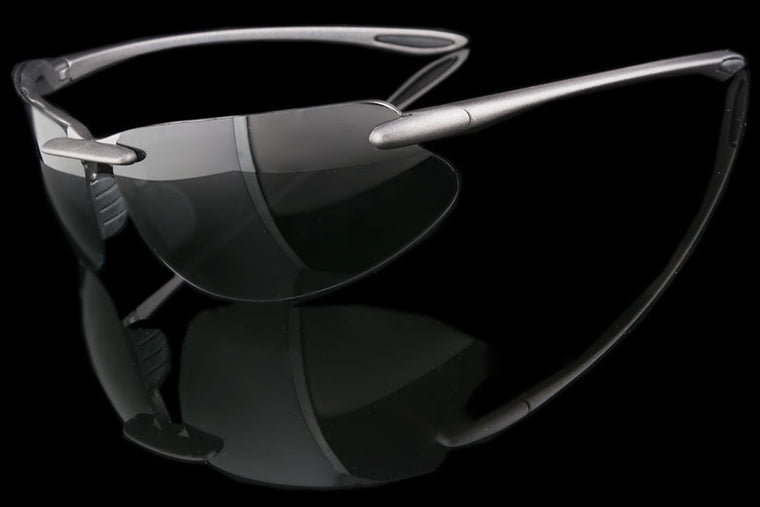 "Mens Rimless Sports TAC Polarized Sunglasses ""Intrepid"" - Johnny Shades"