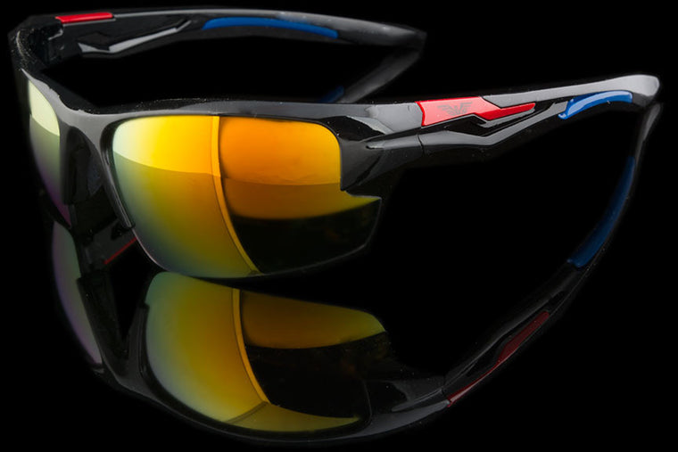 "Sports/Cycling Mirrored Lens Sunglasses ""Breakaway"""