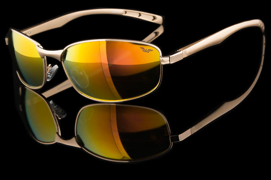 "Mens Small Oval Aluminum Metal Sunglasses ""Forum"""