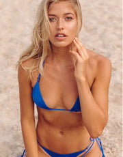 Acacia Swimwear Humuhumu Bikini Top in Royal