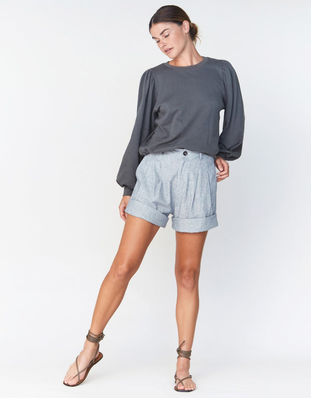Acacia Tash Short in Bristol Cotton Hemp