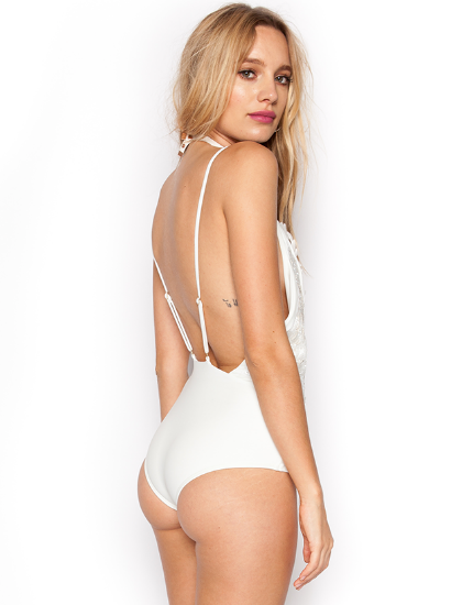 Beach Riot Madives One Piece Swimsuit in Ivory