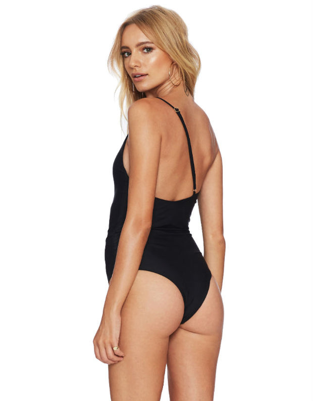 Beach Riot Jen One Piece Swimsuit in Black