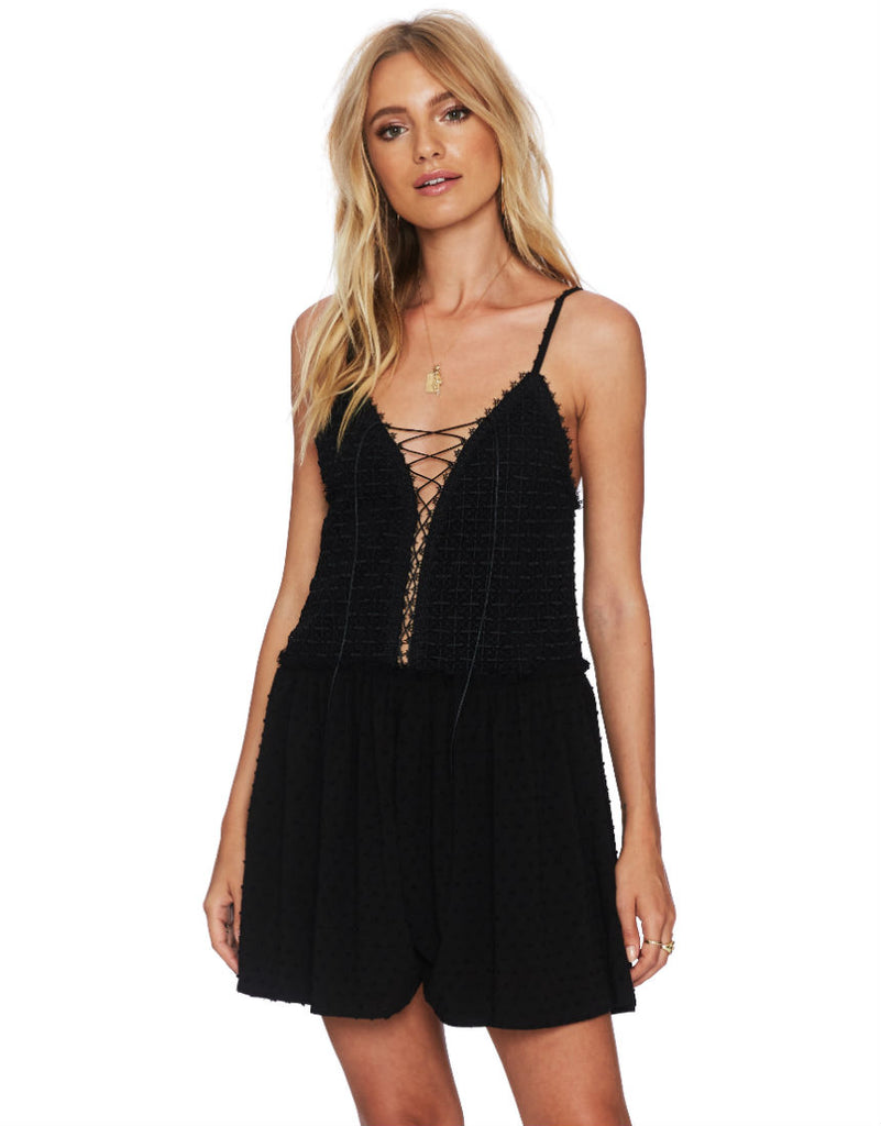 Sophia Romper in Black