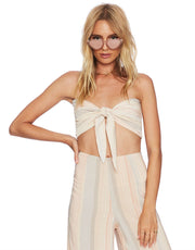 Beach Riot Avery Top in Indian Summer Stripe