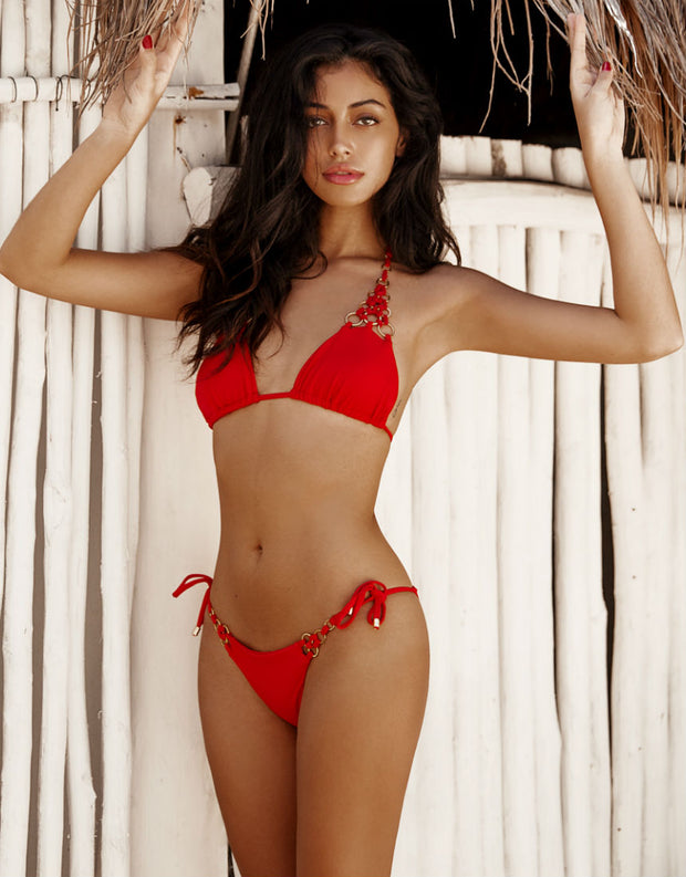 Beach Bunny Swimwear Ireland Tie Side Bottom in Red