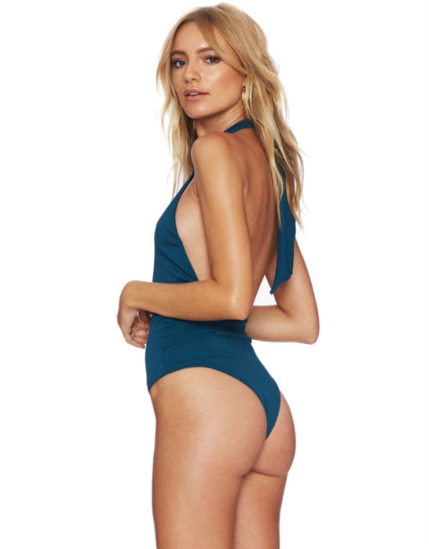 Beach Riot Tess One Piece Swimsuit in Teal