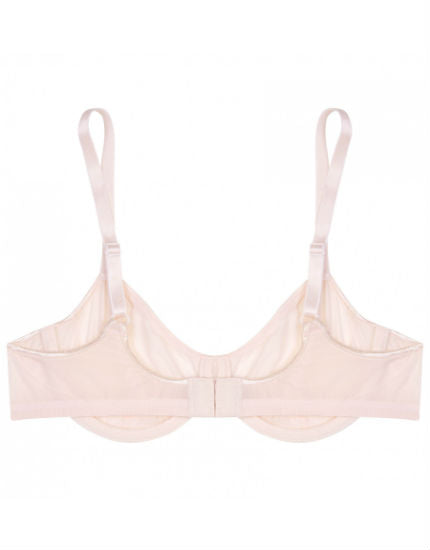 Sheer Tactel Underwire Bra in Blush