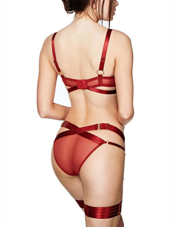 Gia Shelf Bra in Burnt Red