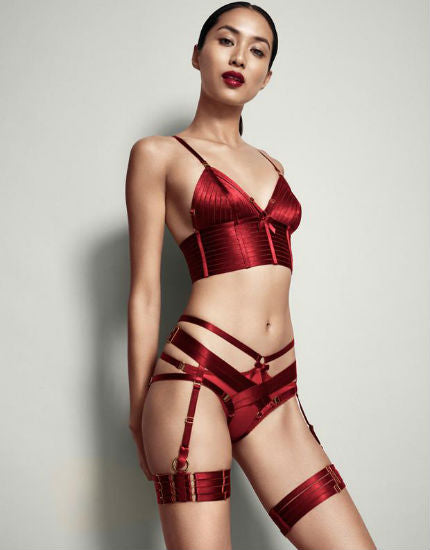 Bordelle Harness Thong in Burnt Red