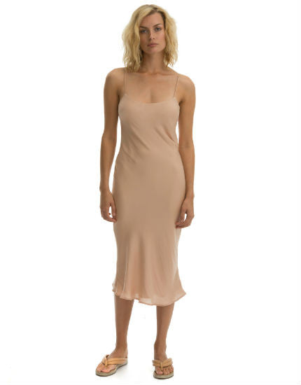 Cali Dreaming Slip Dress in Nude Pink