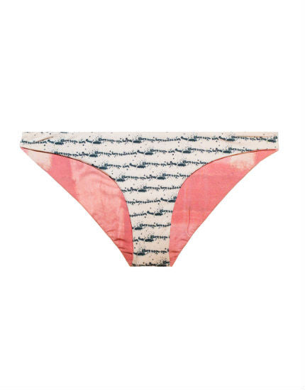 Reversible Pandora Bikini Bottom in Ink Splatter & Coral Block