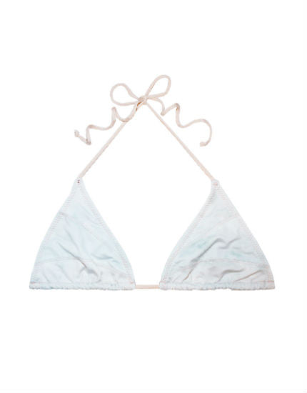 White Water Seamed Aries Triangle Bikini Top