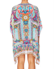 Camilla Wandering Eye Short Lace Up Kaftan