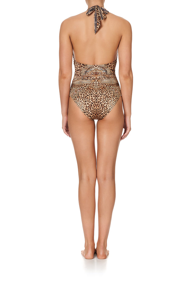 Camilla  Lady Lodge Halter One Piece Swimsuit with Gathering