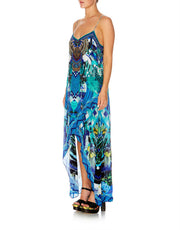 Camilla Amazon Azure Shoestring Double Layer Dress