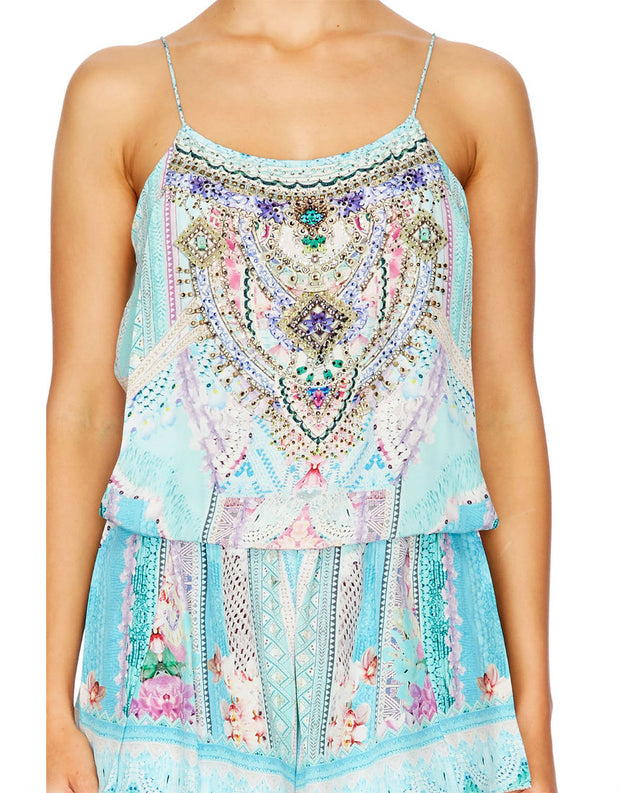 Camilla Garden State Shoestring Strap Playsuit
