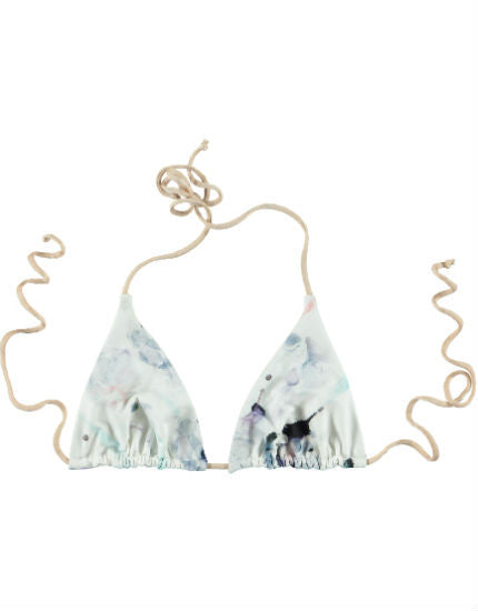 Cali Dreaming Aries Bodie Print Triangle Bikini Top