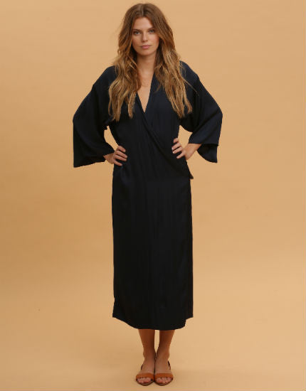 Kimono Dress in Navy