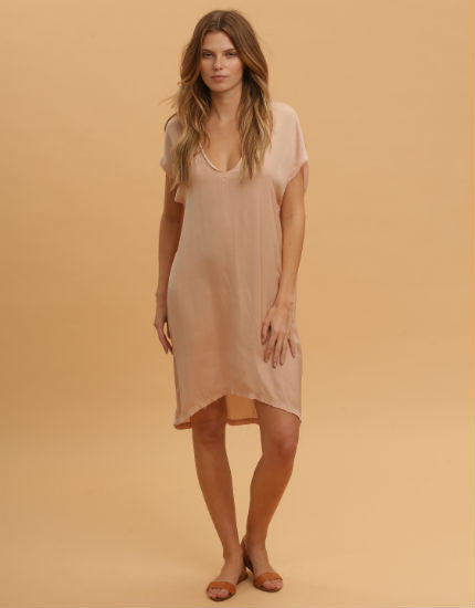 Paper Bag Dress in Pinky Nude