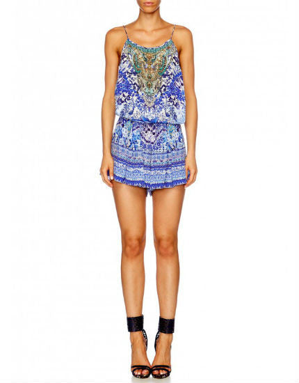 Guardian Of Secrets Shoestring Playsuit