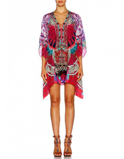Desert Discotheque Short Lace Up Kaftan