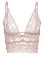 Else Ivy Deep Decolette Longline Soft Cup Bra in Ballet Pink