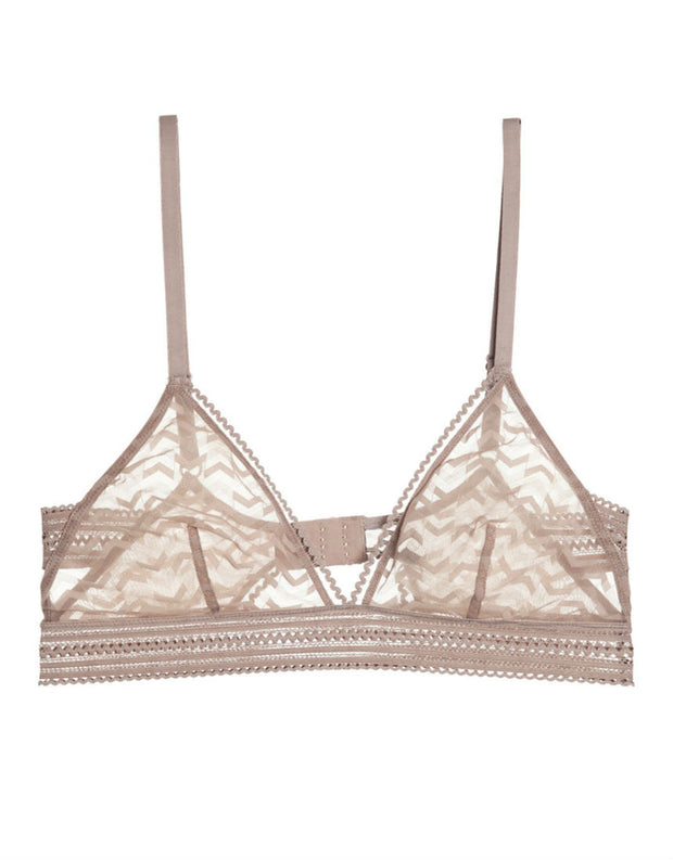 Else Lingerie Boomerang Soft Triangle Cup Bra in Taupe