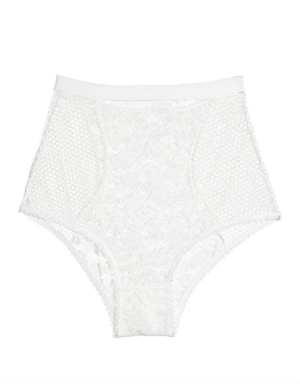 Else Lingerie Petunia High Waist Brief in Ivory