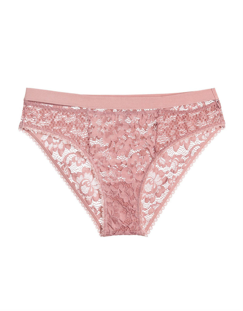 Petunia Bikini Brief in Rose