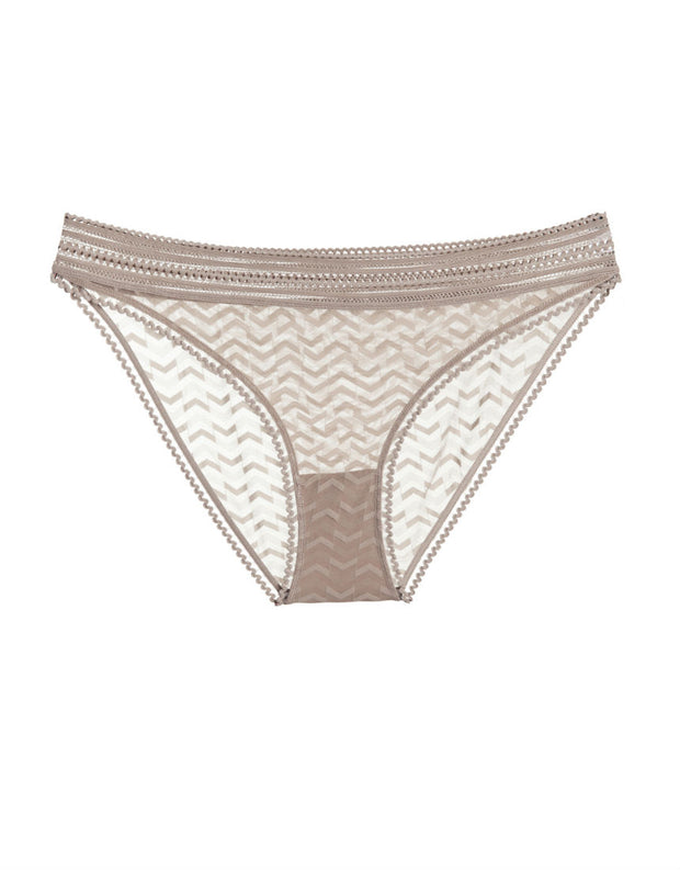 Else Lingerie Boomerang Bikini Brief in Taupe