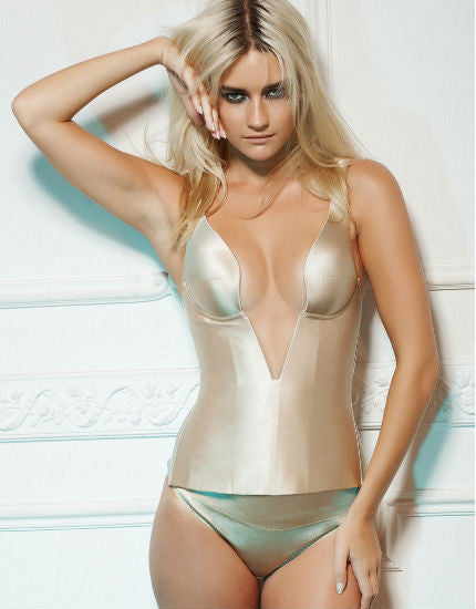 Grace Silk Corset in Nude