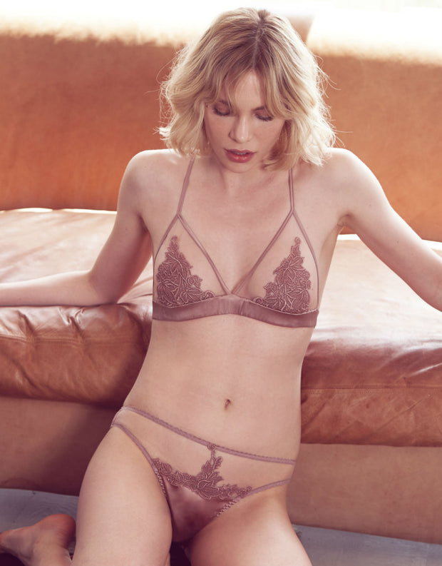Desert Rose Embroidered Ouvert Brief