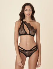 Tisja Damen Hymn Asymmetrical Bra in Black