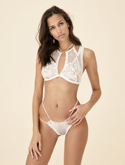 Tisja Damen Ophelia High Neck Bra in Ivory
