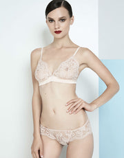 I.D. Sarrieri La Ballerina Rose Silk & Lace Triangle Bra