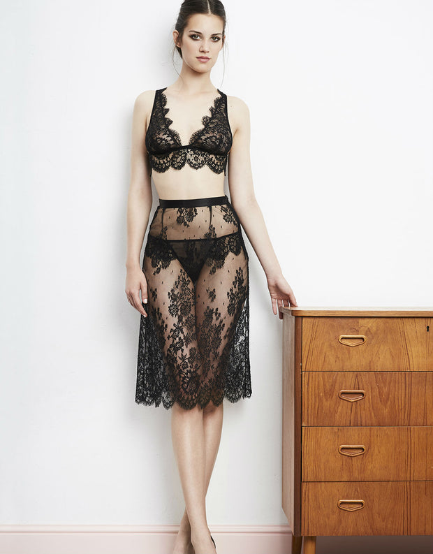 I.D. Sarrieri Noir Comme La Robe Black Lace Triangle Bra